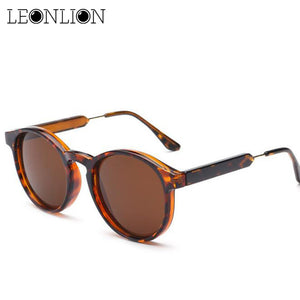 LeonLion 2018 Vintage Round Sunglasses Women/Men Classic Outdoor Oculos De Sol Gafas UV400  Brand Designer Driving Sun Glasses