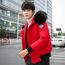 Loose Fur Hoodies  Winter Jacket Men Warm Pockets Casual  Short Coat England Style Slim Fashion  Warm Male Parka
