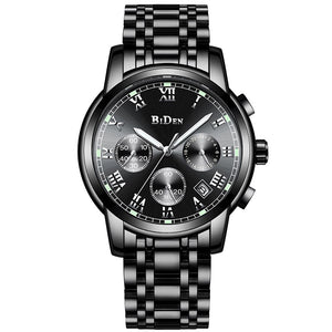 Luxury Men's Watches BIDEN Quartz Watch Brand Men Full Stainless Steel Wrist Unique Business Aviator Watches Men Clock Man Gifts