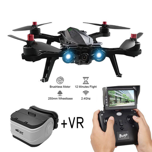 MJX Bugs 6 B6 2.4G RC Helicopter High Speed Brushless Motor RC Drone With Camera FPV Real-Time Image Transmission RC Quadcopter
