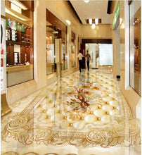 Marble flower Photo wallpaper mural floor Custom photo floor wallpaper 3d floor wallpapers    Home Decoration