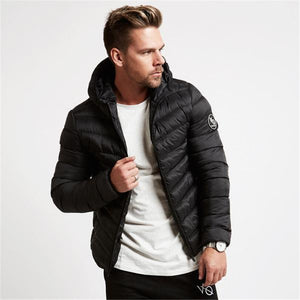 Men's Autumn winter new fashionLong sleev line gyms hoodies Sweatshirts Loose coat men wear fitness casual Cotton-padded jacket