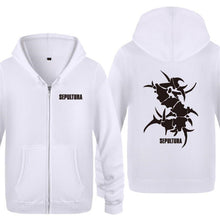Mens Hoodie Rock Sepultura Printed Hoodies Men Hip Hop Fleece Long Sleeve Zipper Jacket Coat Sweatshirt Skate Tracksuit Big Size