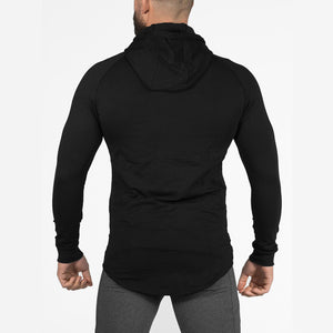 Mens cotton Hoodies Fashion Casual Zipper sweatshirt male gyms fitness Bodybuilding workout sportswear Hooded Jacket clothing