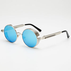 Metal Steampunk Sunglasses Men Women Fashion Round Glasses Brand Design Vintage Sunglasses High Quality UV400 Eyewear Shades
