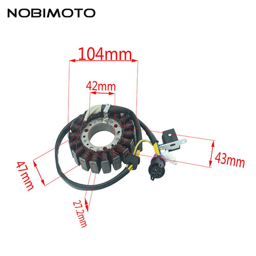 Motorcycle Generator Magneto Stator Coil Comp Fit For Linhai 250CC 300CC Feishen 250CC 300CC Moto Scooter ATV Engines CQ-168