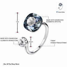 Neoglory Crystals Rings Silver Color Wedding Rings For Women Fashion Jewelry 2019 New Embellished with Crystals from Swarovski