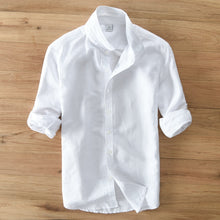 New 2018 Men Linen Shirts For Man top Clothing Solid 55%linen+45%Cotton Casual Single Breasted Slim man Shirt Size S-3XL 601