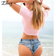 New 2018 Summer Women Sexy Jeans Shorts Feminino Candy Color Fashion Hot Denim Shorts Beach Ladies Party Low Waist Mini Shorts