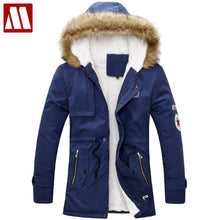 New 2018 fashion men's winter Fur Hoody collar jackets fur hooded warm casual men overcoat coats parkas good quality clothing