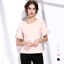 New 2018 fashion women T Shirts Branded design classic plaid check tops casual round necks flare sleeve female cotton tees