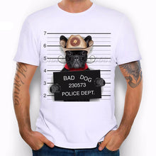 New 2019 Summer Fashion  French Bulldog Design T Shirt Men's High Quality  dog Tops Hipster Tees pa890