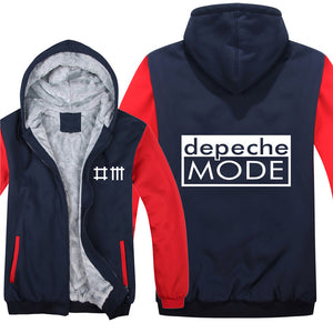 New Depeche Mode Hoodies Jacket Winter Men Casual Thick Fleece Hip Hop Fashion DJ Sweatshirts Pullover Man Coat  1