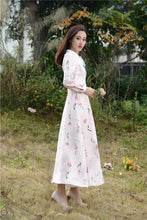 New High Quality Explosions Leisure Vintage color matching Dresses Women  Rivet Spring summer Casual  Dress