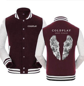 New Hooded Winter cotton baseball Coats Jackets Men Sweatshirt Coldplay Hoodies rock