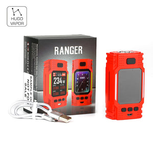 New Original Hugo Vapor Ranger GT234 TC Box Mod 234W with Huge 2-inch Display No 18650 Battery Vape Mod Box vs Drag 2 / Luxe Mod