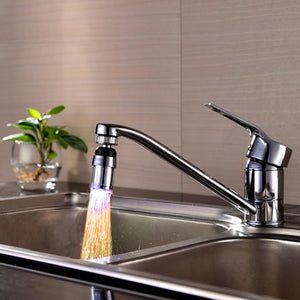 New Qualified 1PC Kitchen Sink 7 Color Change Water Glow Water Stream Shower LED Faucet Taps Light Dropship D45Au22A