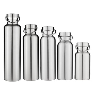 New Stainless Steel Double Wall Vacuum Jug Insulated Water Bottles Travel Coffee  Drink Vacuum Flasks 350/500/650/700/1000ml