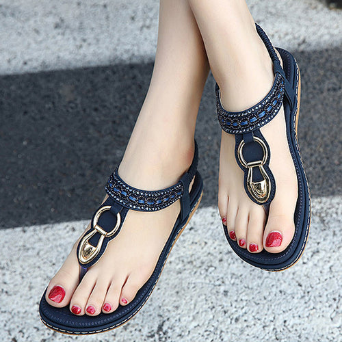 New Summer Flip Flops Women Sandals Buckle Leisure Fashion Beach Bohemian  Footwear Women Casual Shoes Concise b88ba70e85cc
