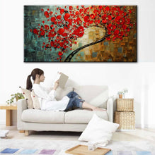 New handmade Modern Canvas on Oil Painting Palette knife Tree 3D Flowers Paintings Home living room Decor Wall Art  168040
