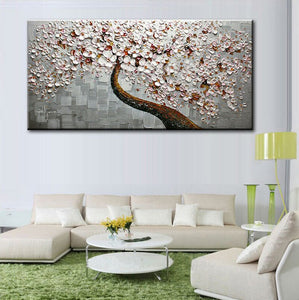 New handmade Modern Canvas on Oil Painting Palette knife Tree 3D Flowers Paintings Home living room Decor Wall Art  168029 1