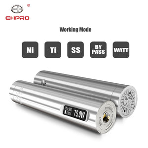 Newest Ehpro 101 Pro mod 25mm diameter Ehpro 101 pro mod 75W Mechanical Mod powered by single 18650/20700/21700 battery