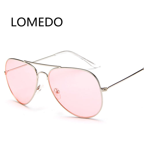 Newest Fashion Ocean Sunglasses For Women Brand Metal Frame Yellow Sunglasses Pink Lens Sun Glasses Yellow Glasses Aviator