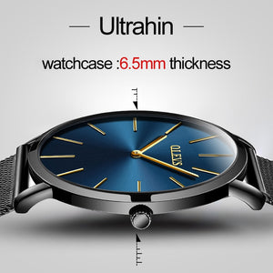 OLEVS Ultra Thin Man's Business Watches Male Dress Quartz Wristwatches Watch Steel Mesh Strap Calendar Creative Men Wristwatches