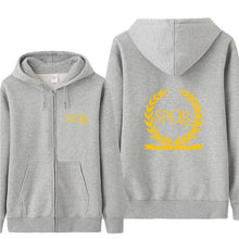 Omnitee Fashion Roman SPQR Hoodies Sweatshirt Men Fleece Zipper Roman Gladiator Imperial Golden Eagle Jacket  Men Coat