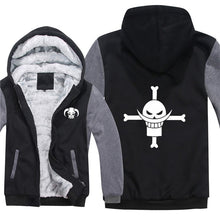 One Piece Hoodies Anime Zoro Luffy Coat Ace Whitebeard Jacket Monkey D Luffy Hoodies Winter Men Thick One Piece Sweatshirts