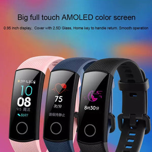 Original Huawei Honor Band 4 Smart Wristband 2018 New 0.95'' Color Amoled Touchscreen Swim Posture Detect Heart Rate Sleep Snap