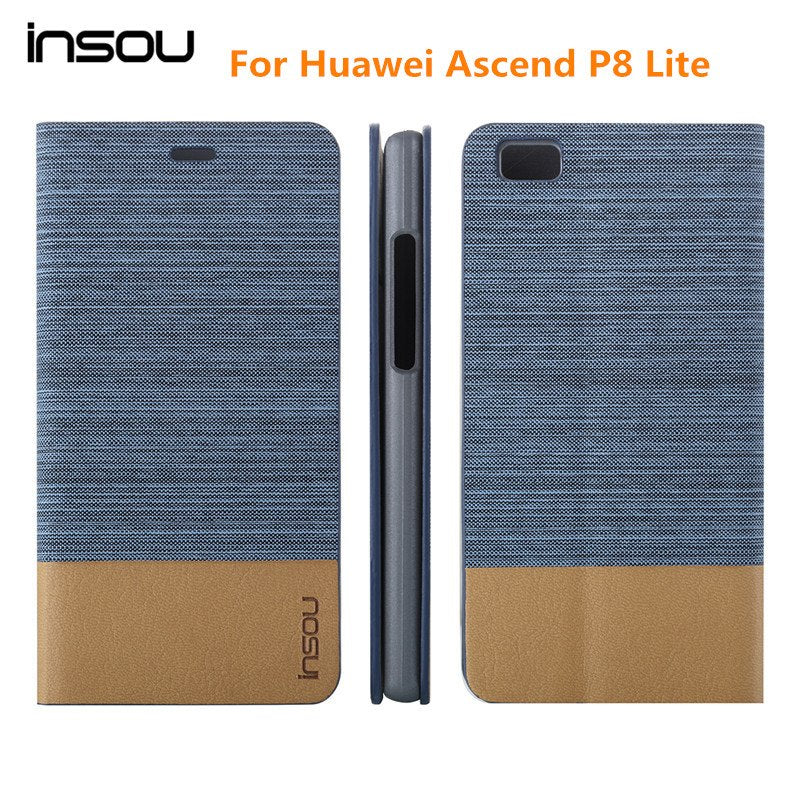Original Huawei P8 lite case,Luxury Demin Wallet Stand Flip Phone Bag Cover Leather Case for Huawei Ascend P8 Lite Mini Case