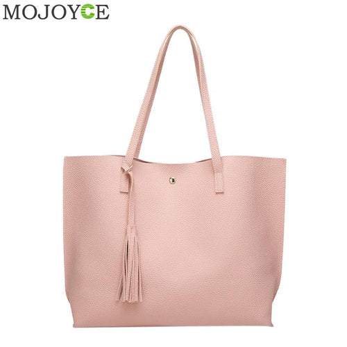 PU Leather Tassel Handbags Women Purse Shopper Totes Luxury Designer sac a main Vintage Fashion Large Capacity Shoulder Bag