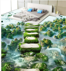 Photo wallpaper mural floor Custom Photo self-adhesive 3D floor ocean beach Bathroom 3d wallpaper floor