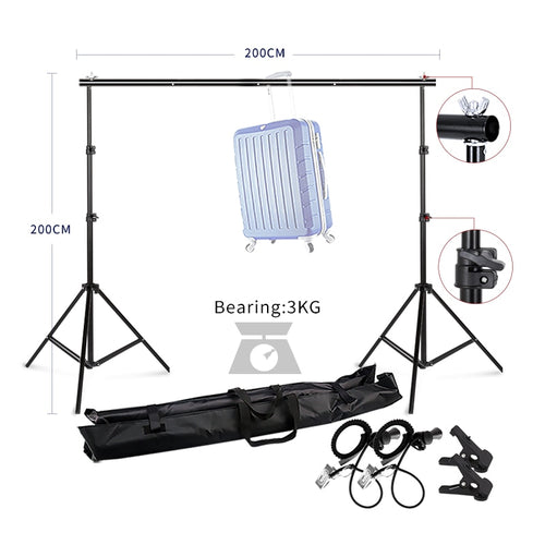 Photography Studio Heavy Duty 2mx2m Photo Studio Backdrop Background Support Stand Kit