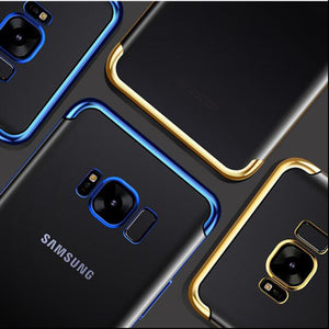 Plating Soft TPU Cases For Samsung Galaxy S8 S9 Plus S6 S7 Edge A7 2018 A5 A3 2016 Note 8 J3 J5 J7 2017 Ultra thin Cover Case