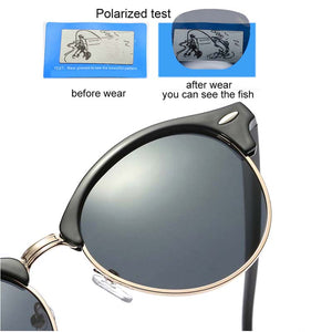 Polarized Sunglasses Women 2018 Cool Round Sun Glasses Fashion Driving Eyewear Lady Luxury Brand Goggles Black Blue Oculos