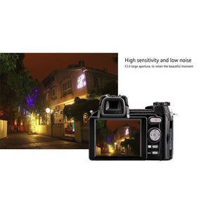 Protax/POLO D7100 33MP 1080P Digital DSLR Camera Body Camera Camcorder+LED Spotlight