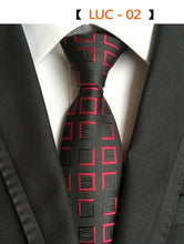 RBOCOTT Fashion Plaid Tie Men's Striped Ties 8 cm Necktie Black Neck Tie For Formal Business Groom Wedding Party Accessory