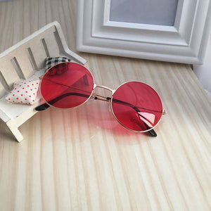 Retro Round Glasses Colorful Frame Men and Women Models Flat Mirror Sunglasses Male Female Outdoor Classic Vintage Red Goggles