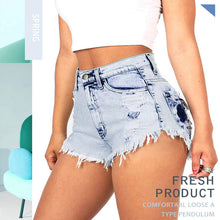 Ripped Hole Short Jeans for Women Sexy Edges Loose High Waist Jeans Denim Shorts Summer Casual Denim Shorts Hollow Shorts