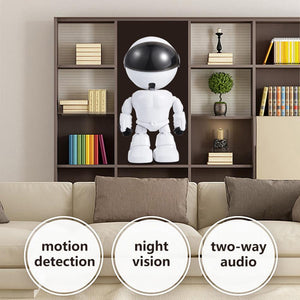 Robot Shape 1.3MP HD Wireless Camera Robot IP Camera Home Security Camera with Night Vision Two Way Audio P2P Remote view