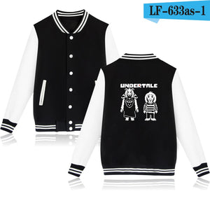 SMZY Undertale SANS And Papyrus Baseball Capless Hoodie Women Winter Long Fashion Sweatshirt Men Hoodie Funny Jacket Clothes