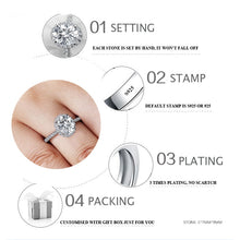 Sona NOT FAKE Fine Engraving Ring S925 Sterling silver Diamond Custom ring Original Design 925 oval cut 4 claws