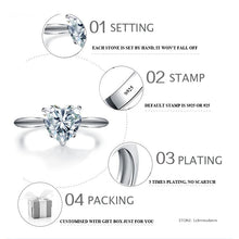Sona NOT FAKE Fine Engraving Ring S925 Sterling silver Diamond Solitaire ring Original Design 925 carat clarity