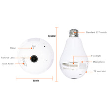 Spetu HD 1080P Bulb Light Wireless Fisheye 360 Degree Panoramic Lamp WI-FI Camera Two Way Audio Home Security CCTV VR IP Camera
