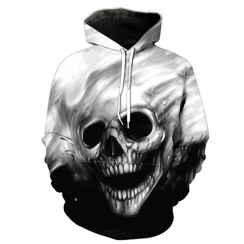 TUNSECHY NEW 2018 Autumn Winter Fashion Men/women Hoodies Red eyes Skull head Hooded Hoody Sweatshirt 3D lovely Tracksuits 1