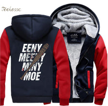 The Walking Dead Eeny Meeny Miny Moe Negan Lucille Zombie Zipper Hoodies Men 2018 Winter Fleece Sweatshirts Thick Jacket Coat