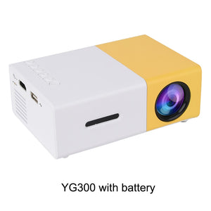 Touyinger YG-300 yg 300 Mini Portable Pocket LED Projector Beamer YG300 YG310 LCD Video Proyector Gift For Kids HDMI / SD / USB