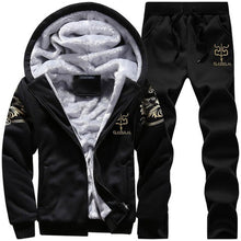 Tracksuit Men Camouflage Army Casual Hooded Warm Sweatshirt Male Winter Thick Inner Fleece 2PC Jacket+Pant Men Moleton Masculino 1